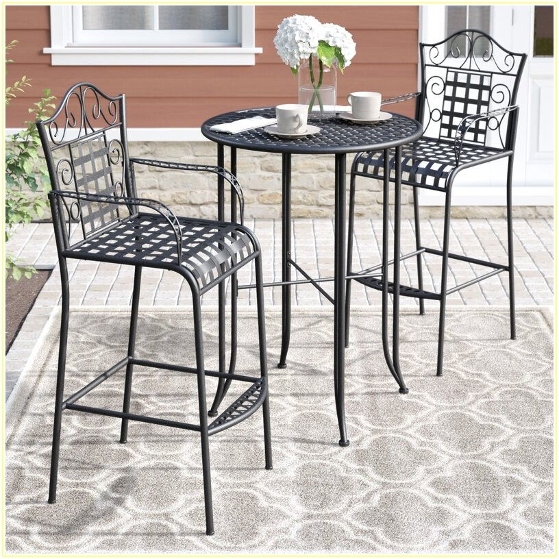 Wrought Iron 3 Piece Patio Set