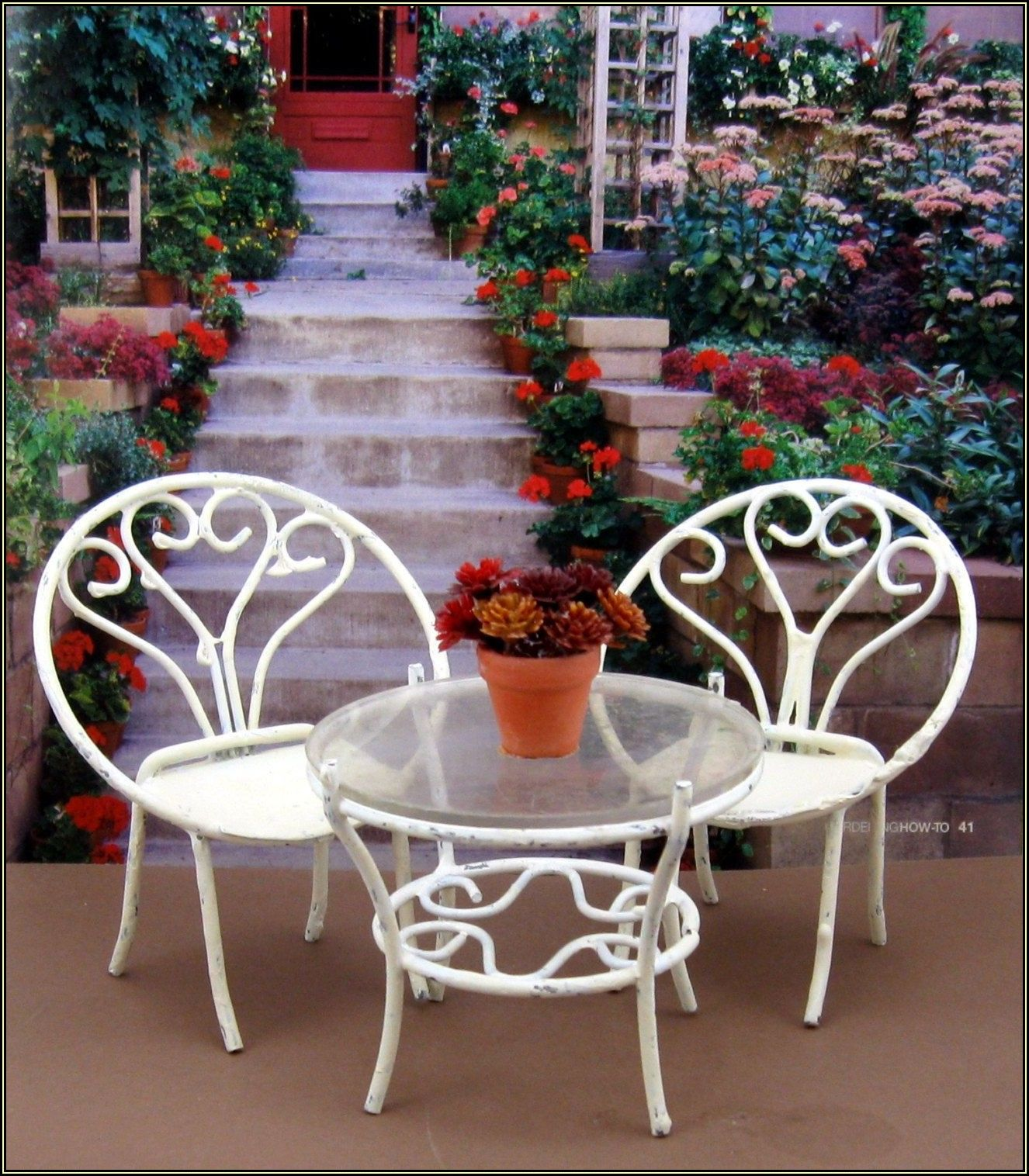 Wrought Iron Antique Cast Iron Patio Furniture