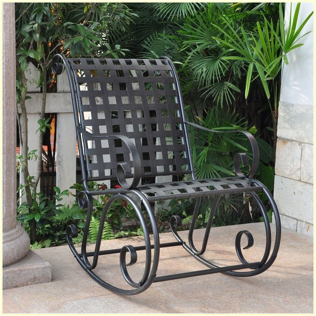 Wrought Iron Patio Chairs That Rock