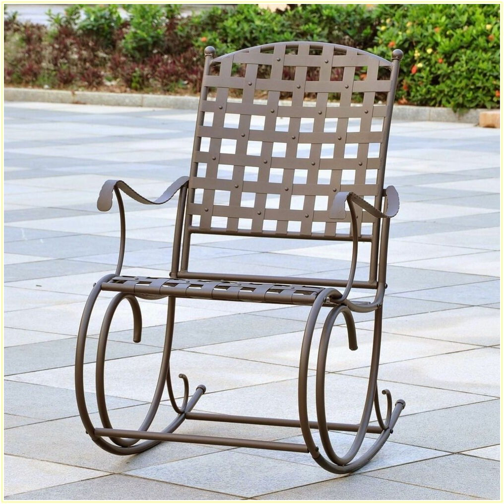 Wrought Iron Swivel Rocker Patio Chairs