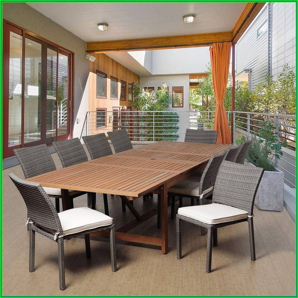 11 Piece Aluminum Patio Dining Set