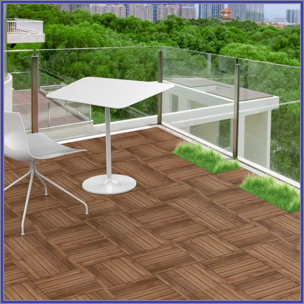 12 X 12 Patio Pavers Interlocking Wood Flooring Tiles Indoor & Outdoor 11 Pcs