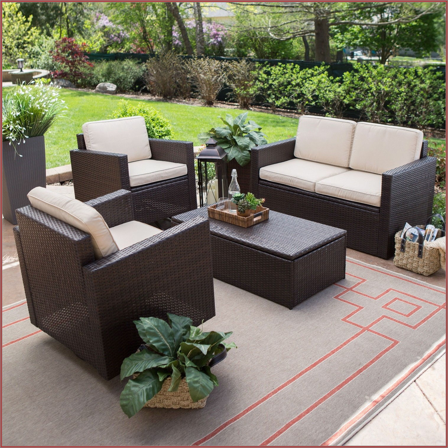 2 Piece Patio Furniture Set
