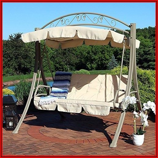 3 Person Covered Patio Swing