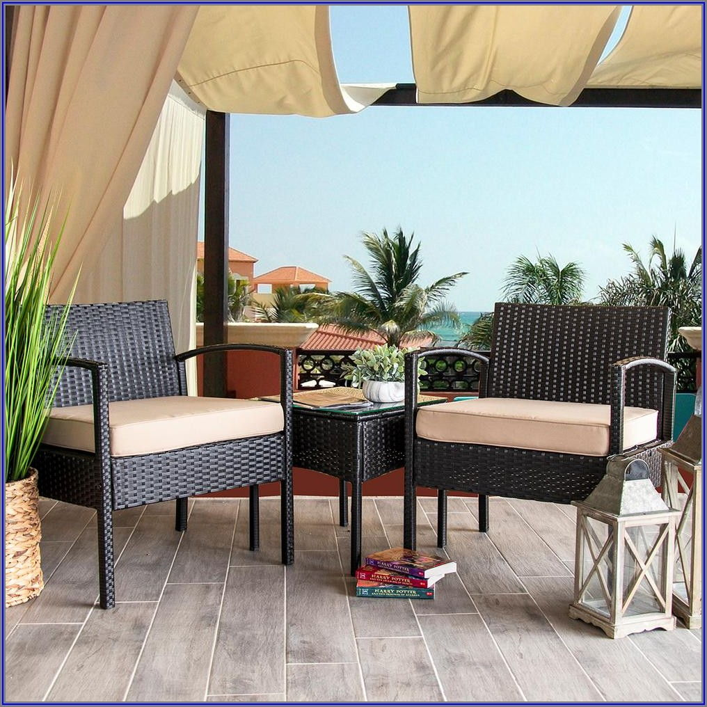3 Piece Outdoor Wicker Patio Set
