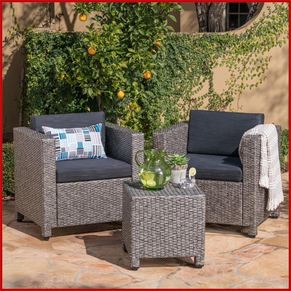 3 Piece Small Patio Set With Cushions