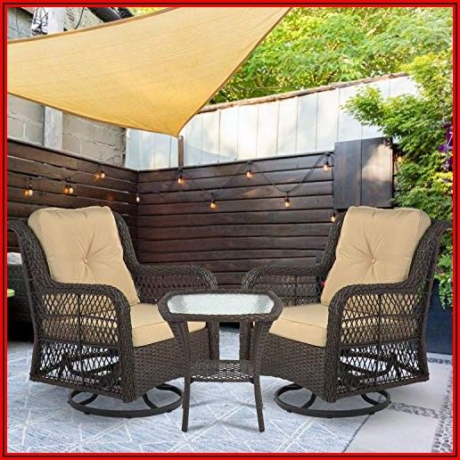 3 Piece Swivel Rocker Patio Set