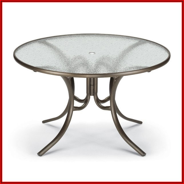 36 Inch Round Glass Top Patio Table