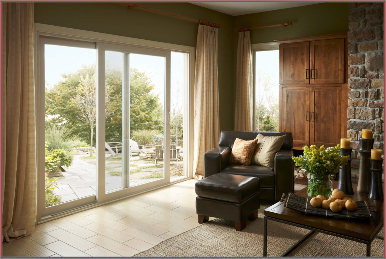4 Panel French Rail Sliding Patio Door