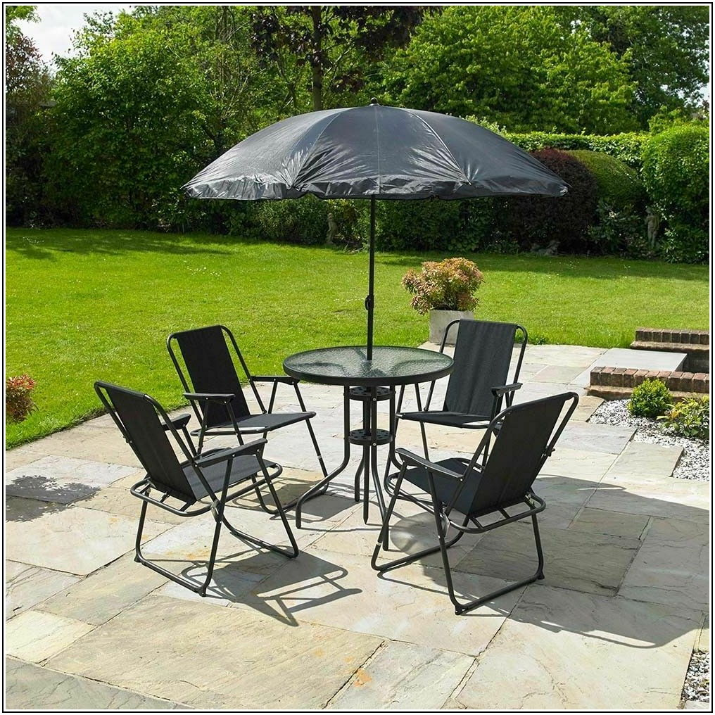 4 Seater Patio Set With Parasol