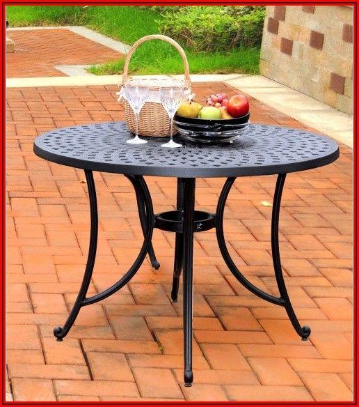 42 Inch Cast Aluminum Patio Table