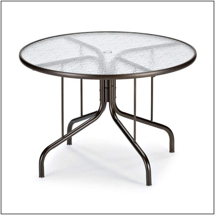 42 Round Patio Table Glass Top