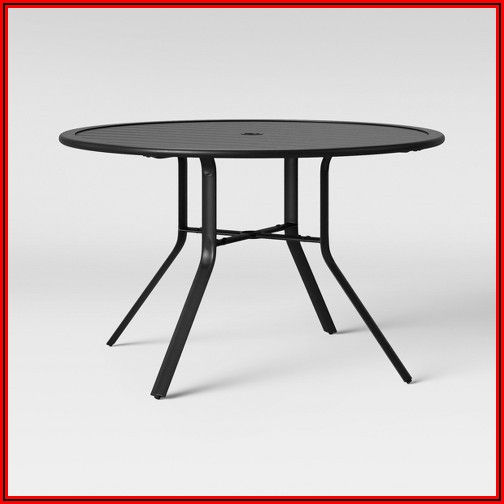 48 Round Metal Patio Table