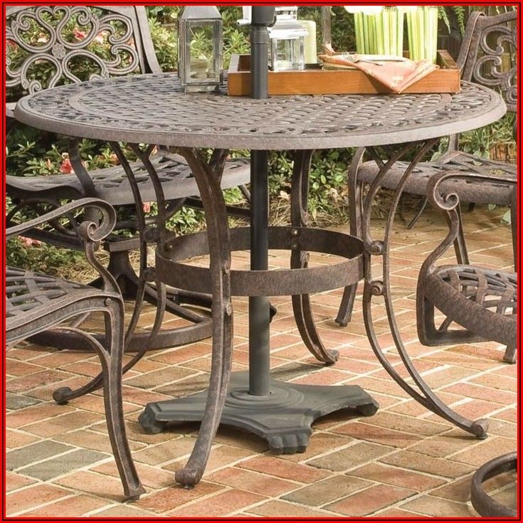 48 Round Patio Table With Umbrella Hole
