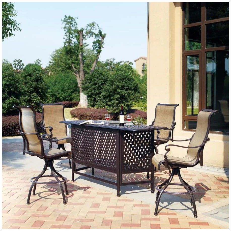 5 Piece Patio Bar Set