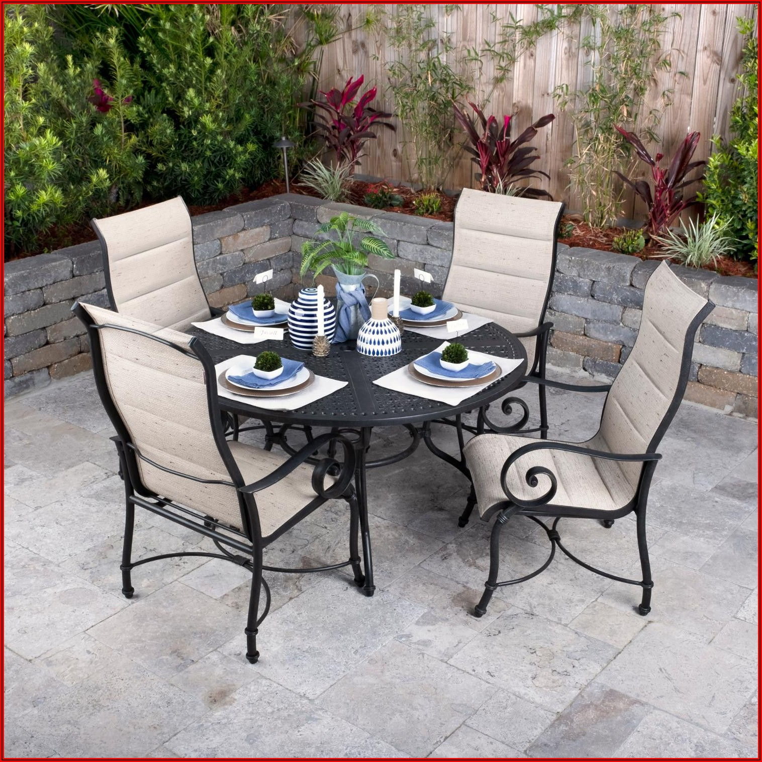 5 Piece Sling Back Patio Set