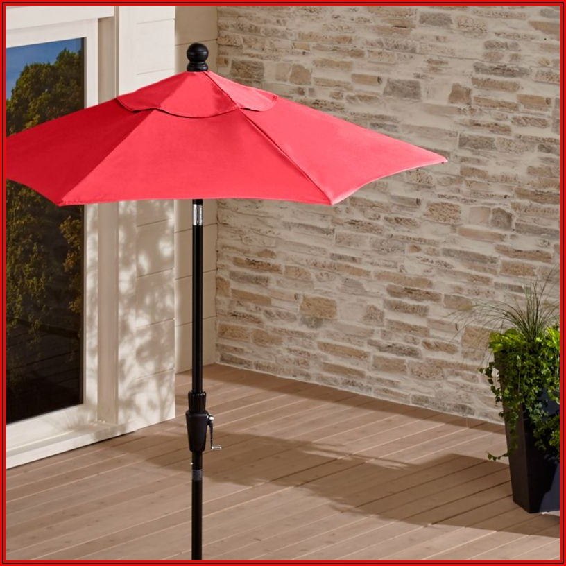 6 Ft Red Patio Umbrella