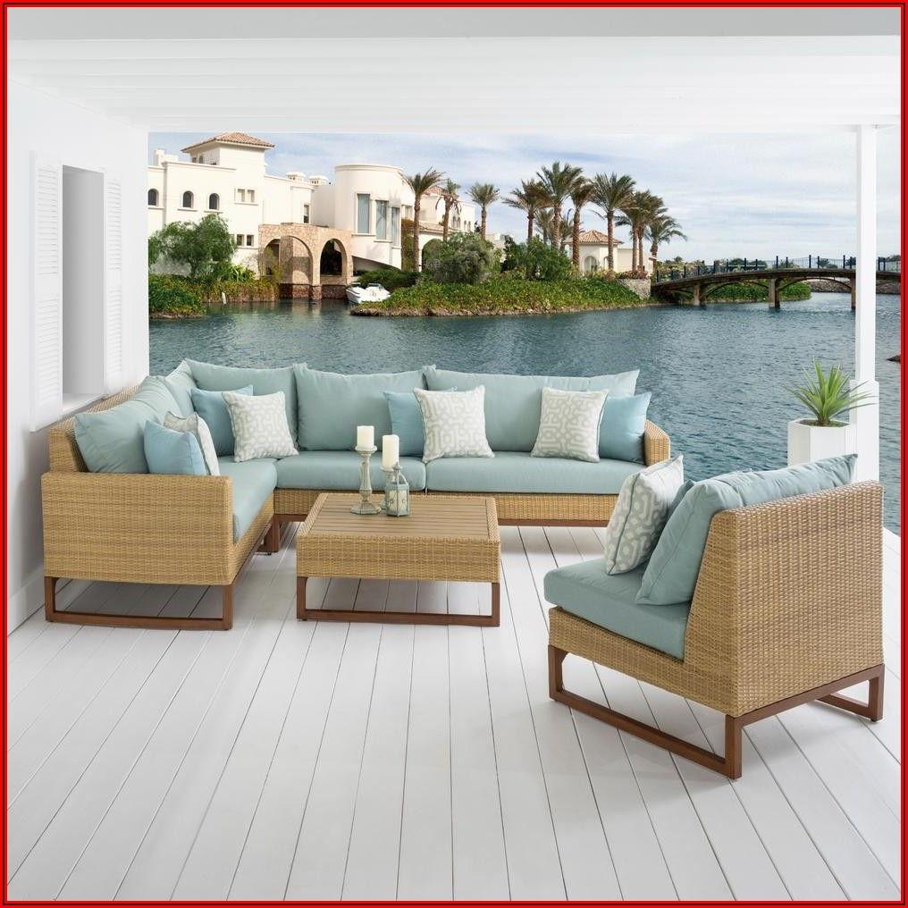 6 Piece Wicker Patio Set With Cushions