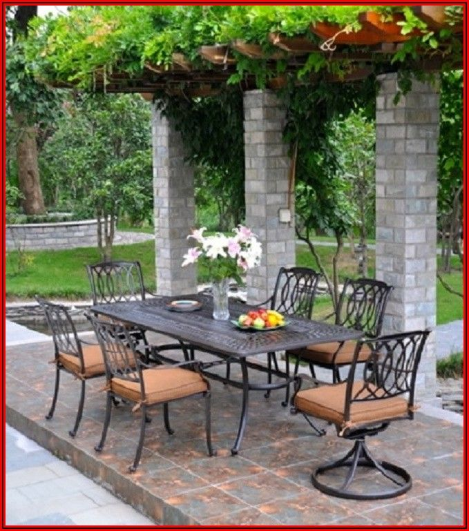60 Cast Aluminum Patio Table