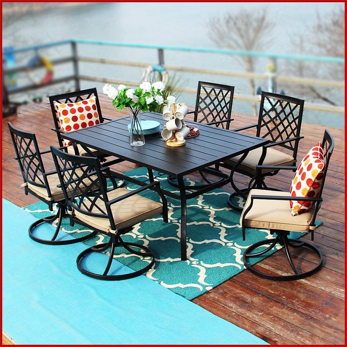 60 Inch Rectangular Patio Table