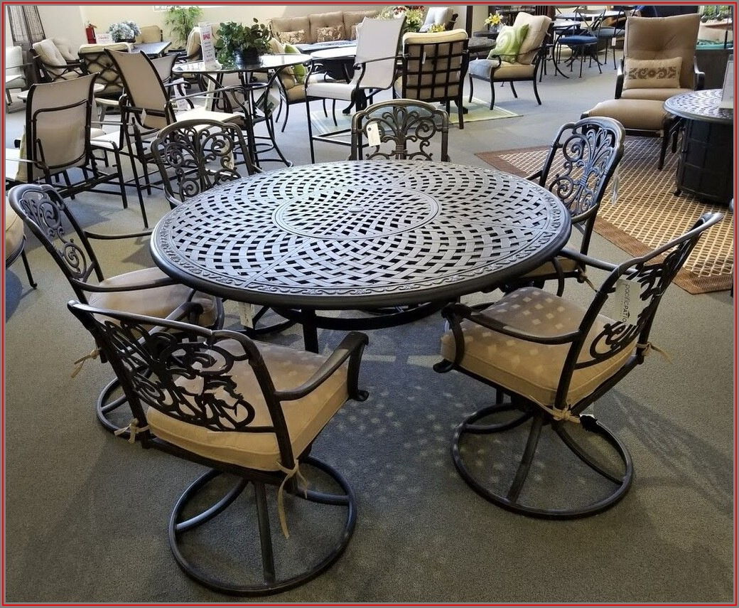 60 Inch Round Glass Patio Table