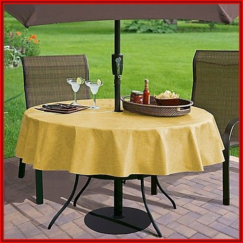 60 Inch Round Patio Tablecloth