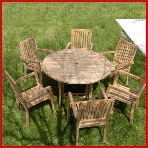 60 Round Teak Patio Table