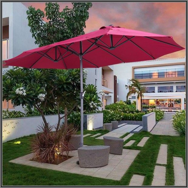 7 Foot Red Patio Umbrella