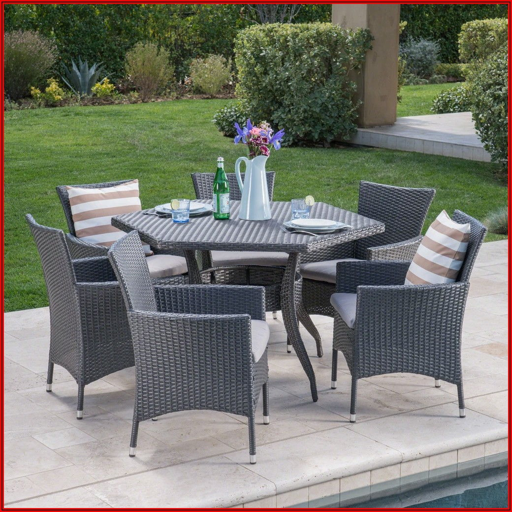 7 Piece Hexagon Patio Set