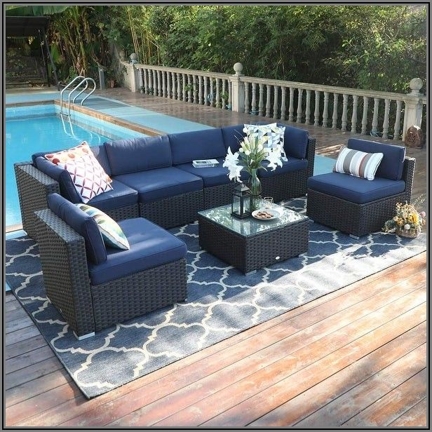 7 Piece Patio Sectional Set
