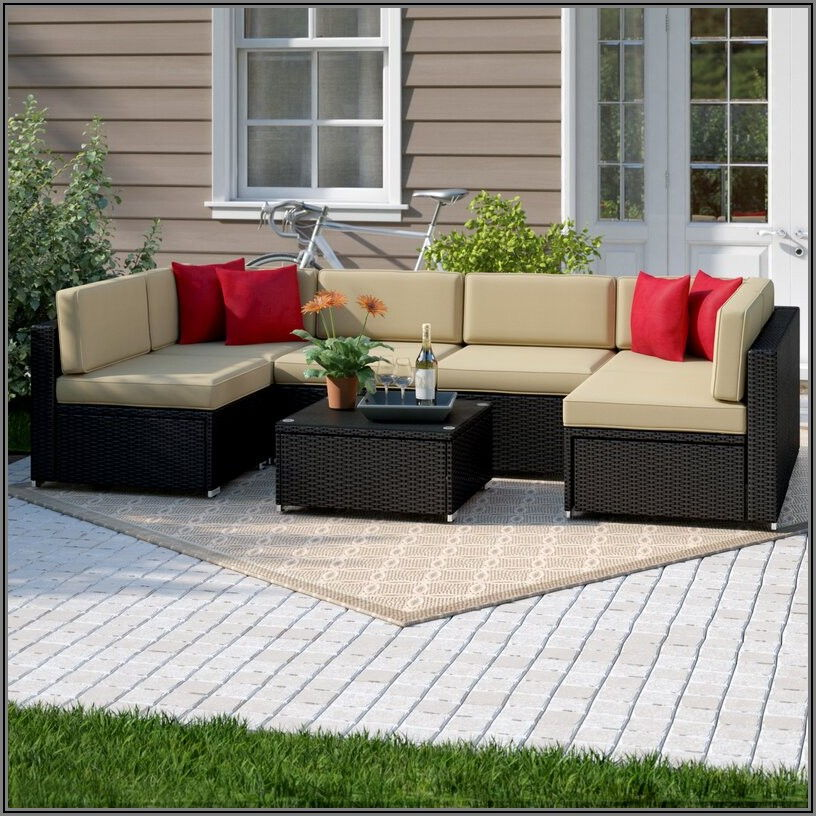 7 Piece Patio Sectional