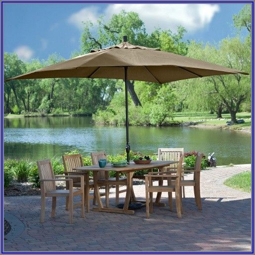 8 X 11 Ft Rectangle Patio Umbrella