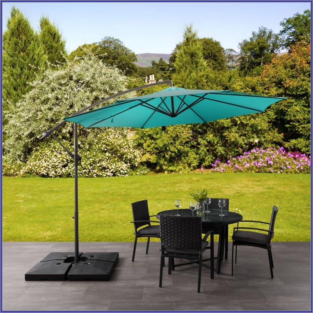 9 Blue Patio Umbrella