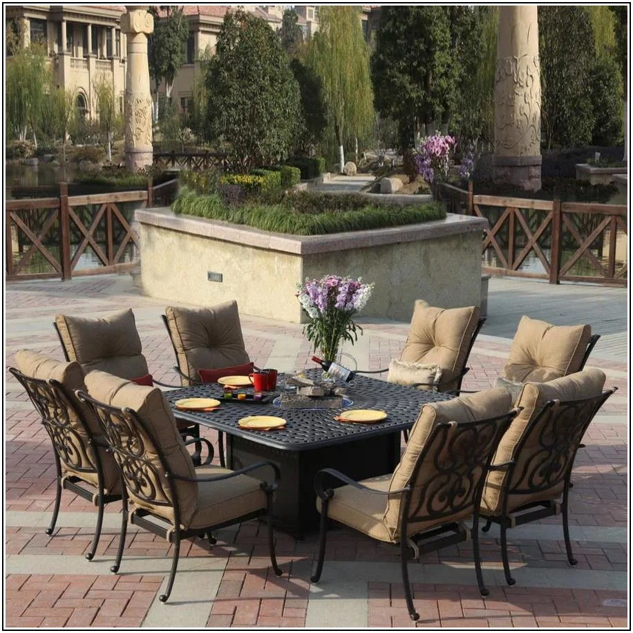 9 Pc Patio Dining Set