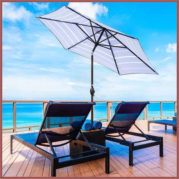 9ft Blue Patio Umbrella