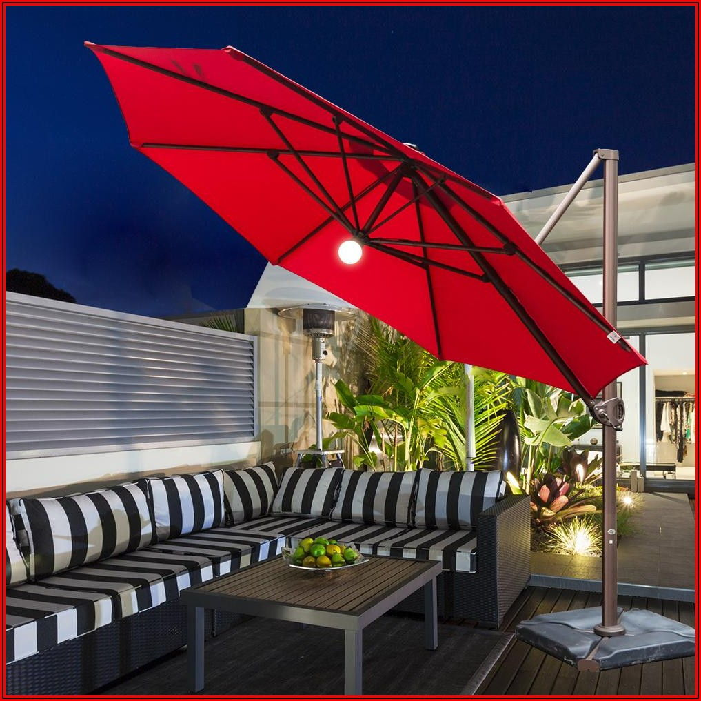 Abba Patio Umbrella With Lights
