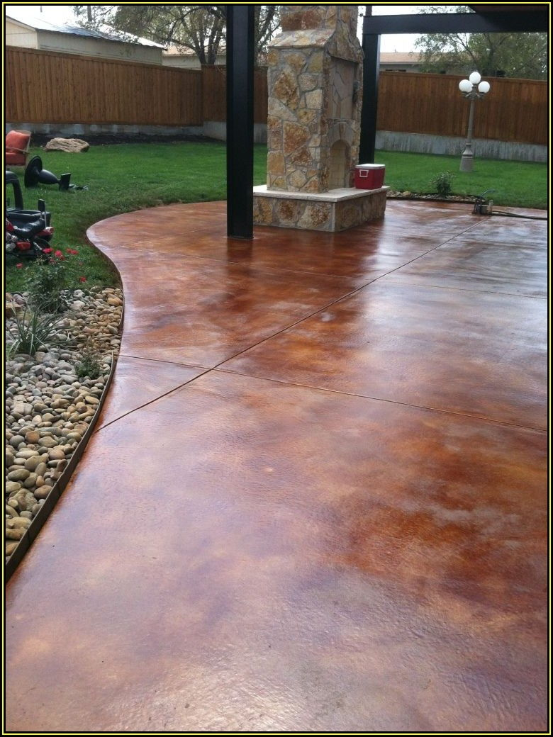 Acid Stain Concrete Patio Colors