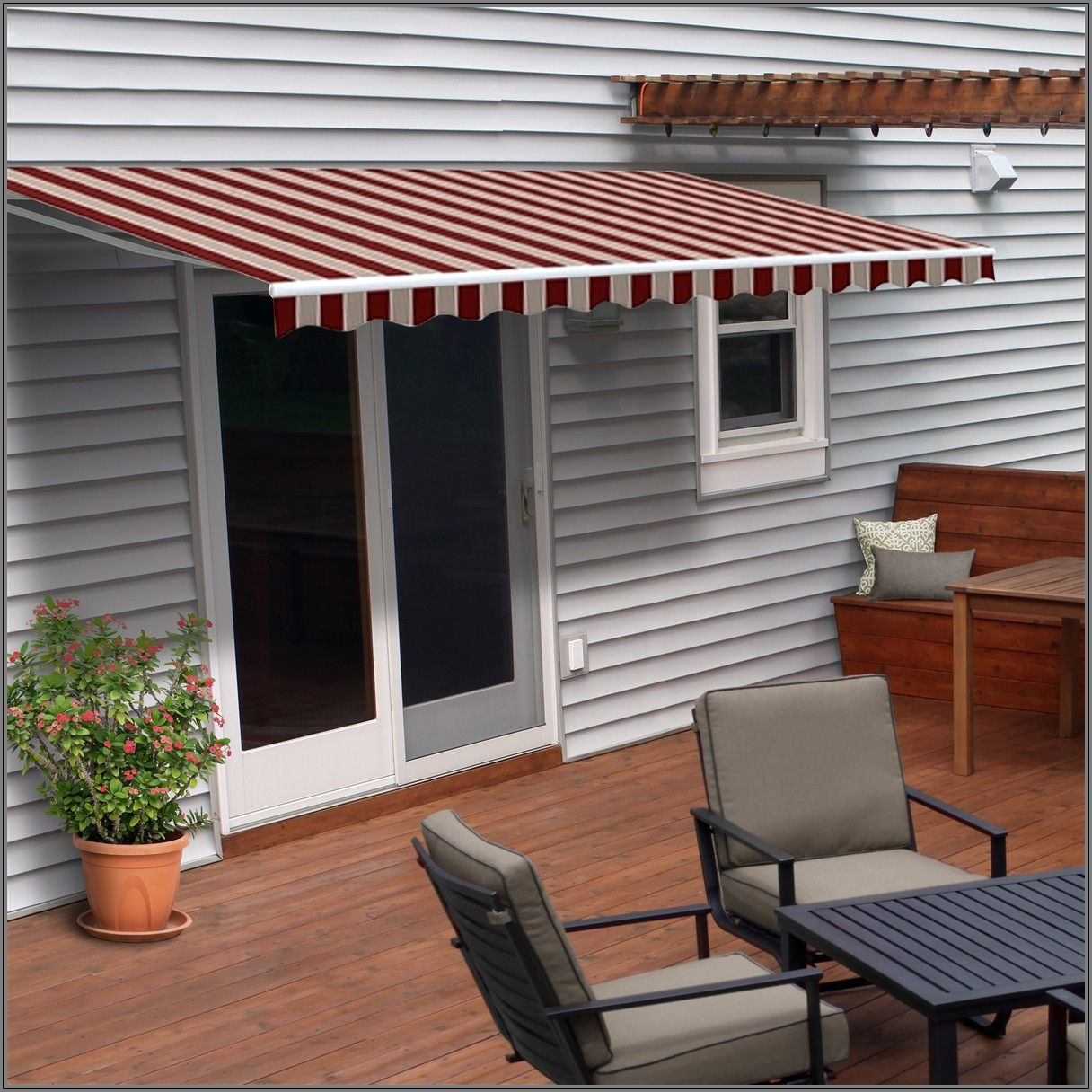 Aleko 20 X10 Retractable Motorized Patio Awning