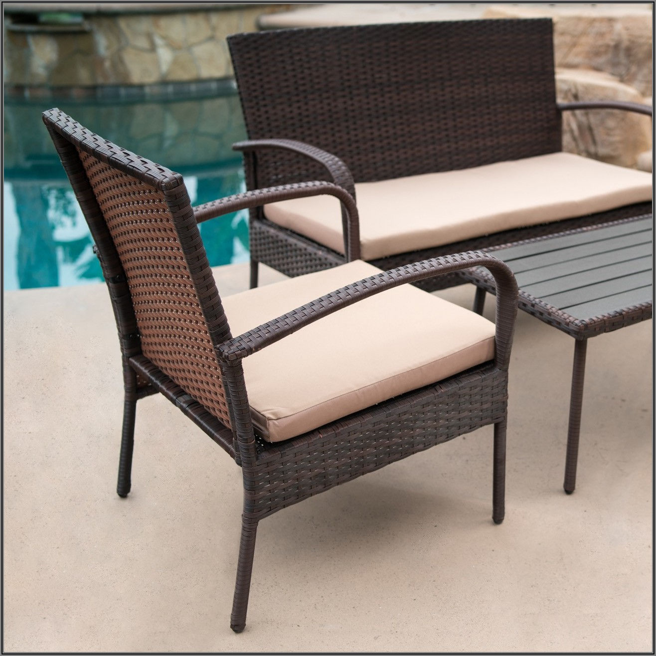 All Weather Wicker Patio Table