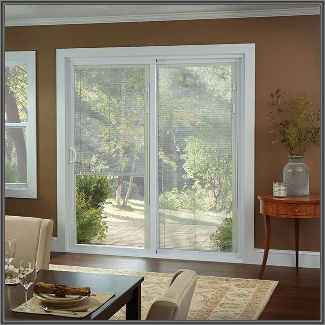 American Craftsman Patio Door With Blinds