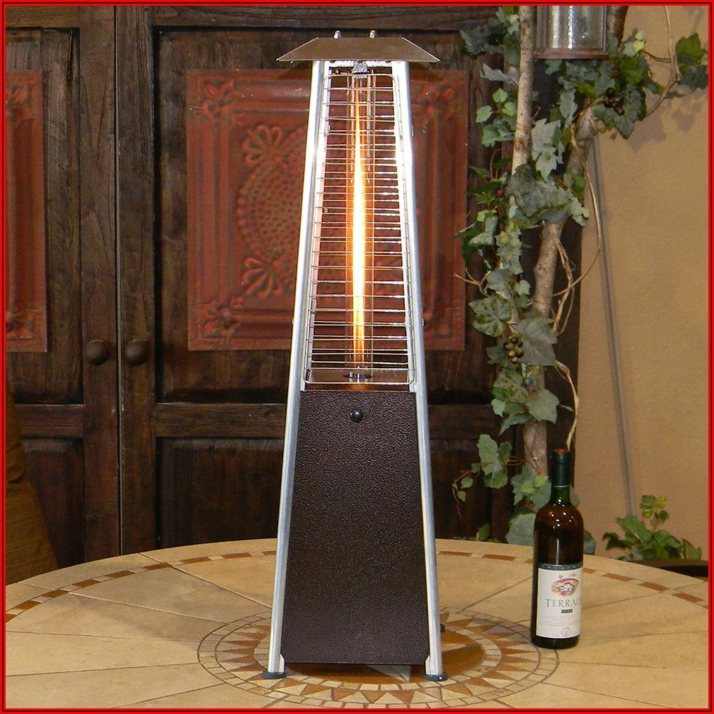 Az Patio Heaters Patio Heater Quartz Glass Tube In Hammered Bronze