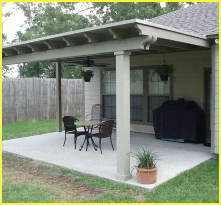 Backyard Patio Attached To House