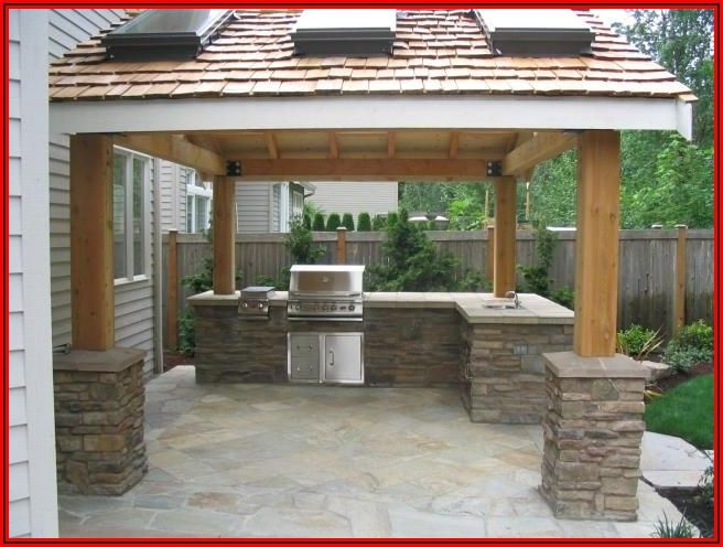 Backyard Patio Grill Island
