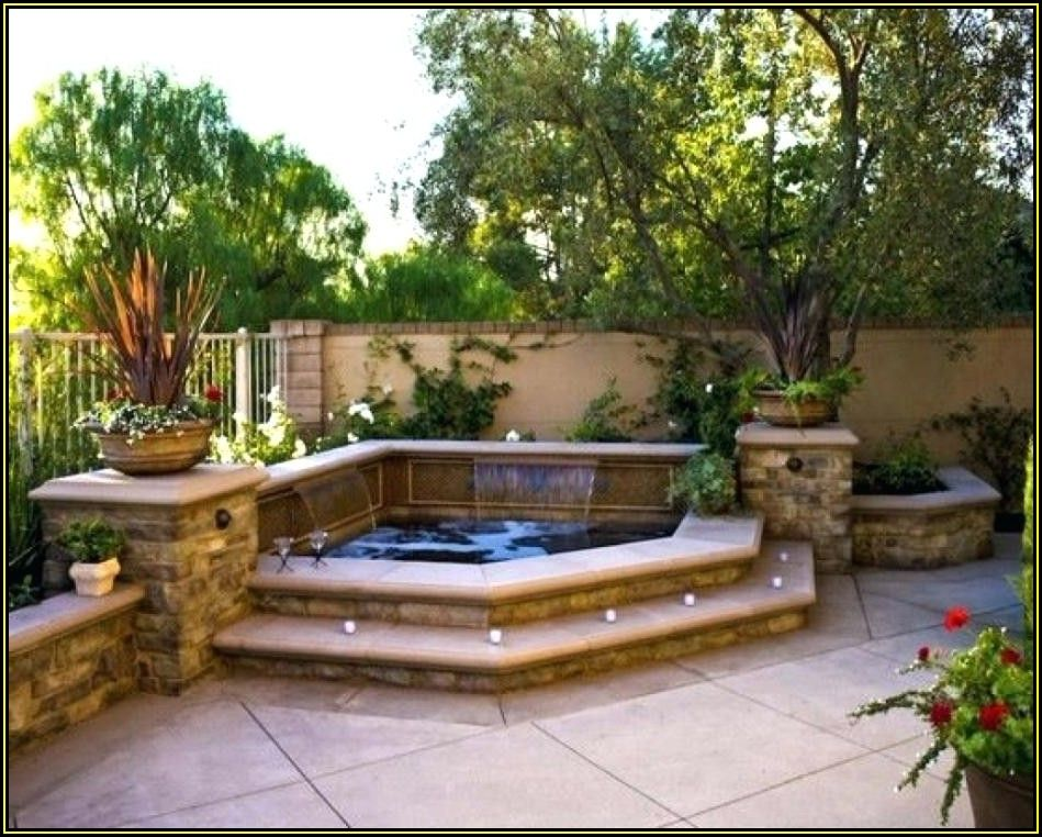 Backyard Patio Ideas With Fire Pit And Hot Tub