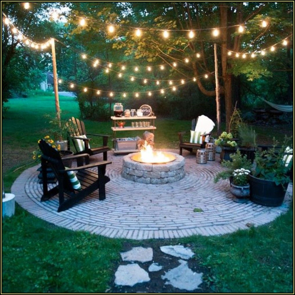 Backyard Patio Ideas With Fire Pit