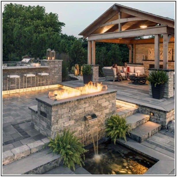 Backyard Simple Paver Patio Ideas