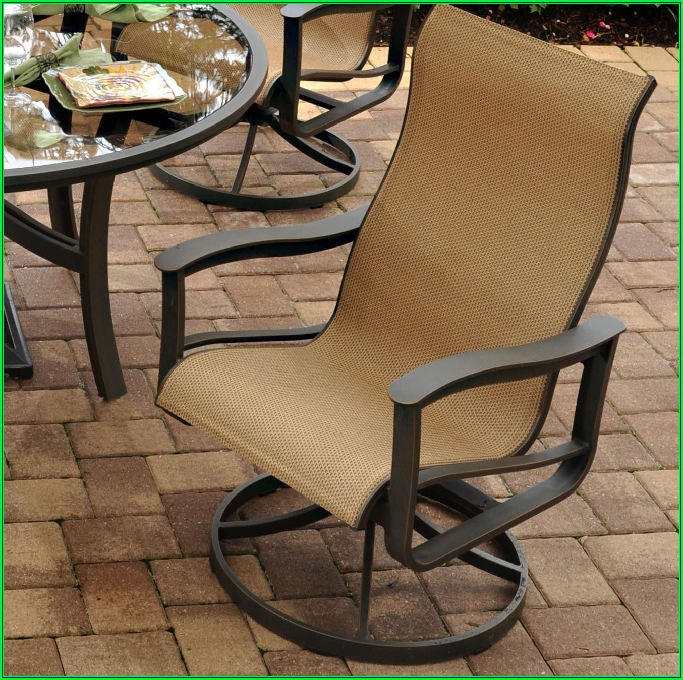Balcony Height Swivel Rocker Patio Chairs