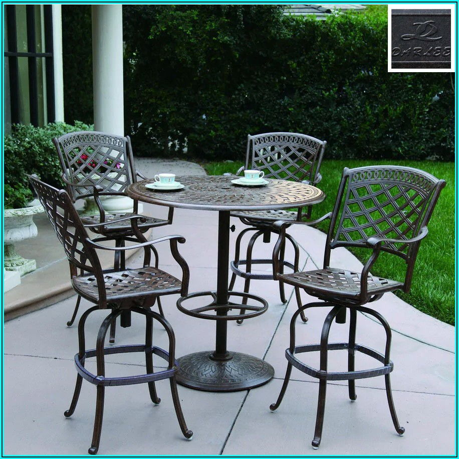 Bar Height Aluminum Patio Furniture