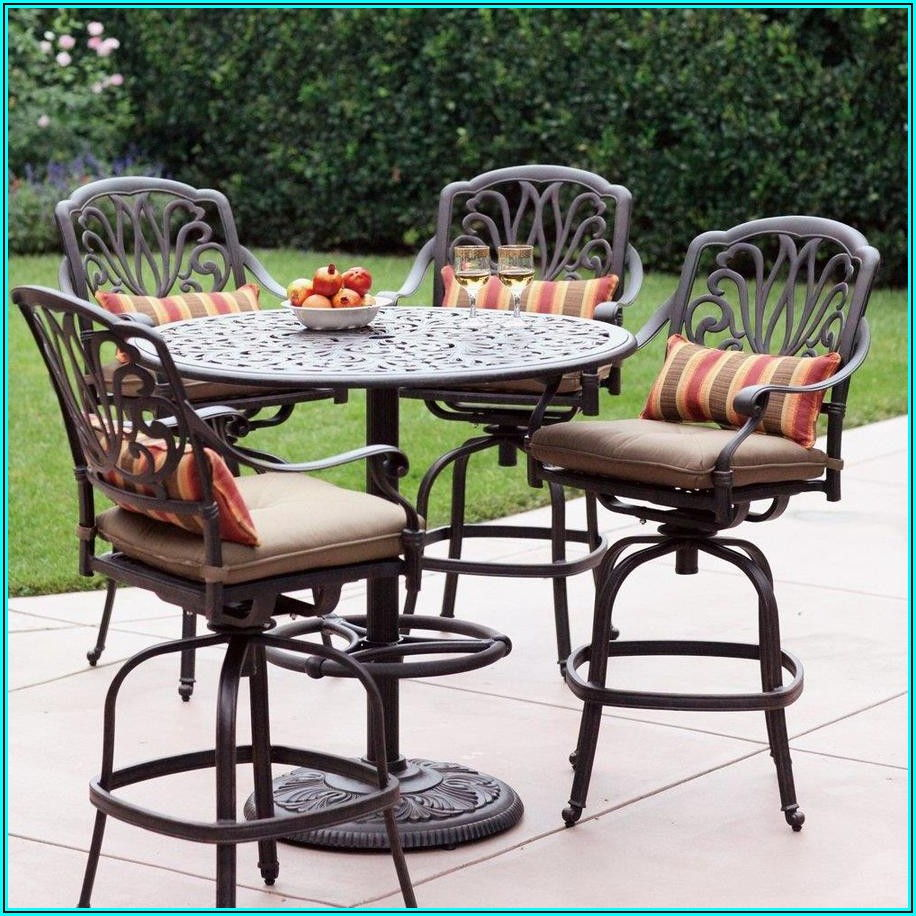Bar Height Patio Furniture 5 Piece