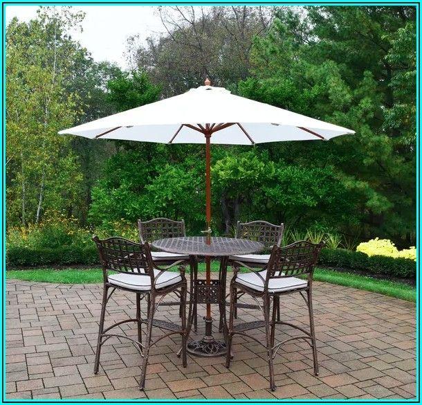 Bar Height Patio Set With Umbrella